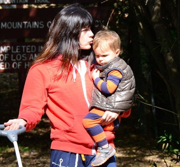 Selma Blair & Arthur Saint Take A Morning Hike 1