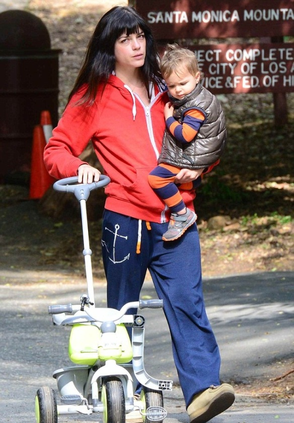 Selma Blair & Arthur Saint Take A Morning Hike