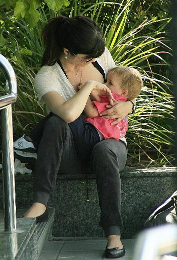 Selma Blair Breastfeeding Little Arthur