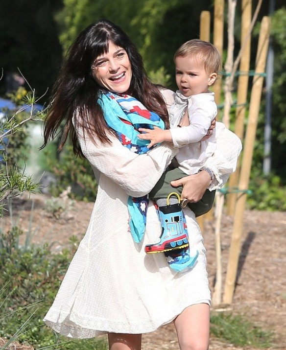 Selma Blair & Son Arthur Afternoon Outing