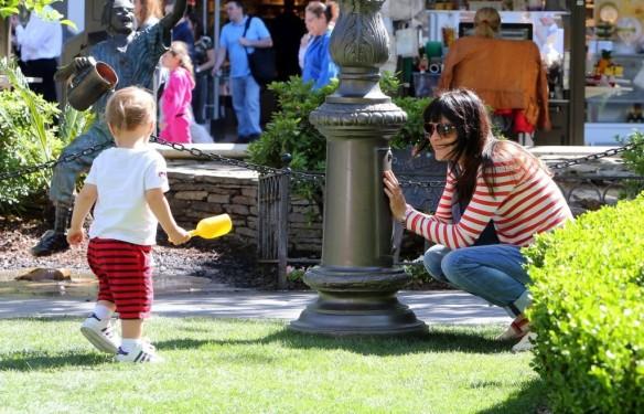 Selma Blair & Son in Stripes 12