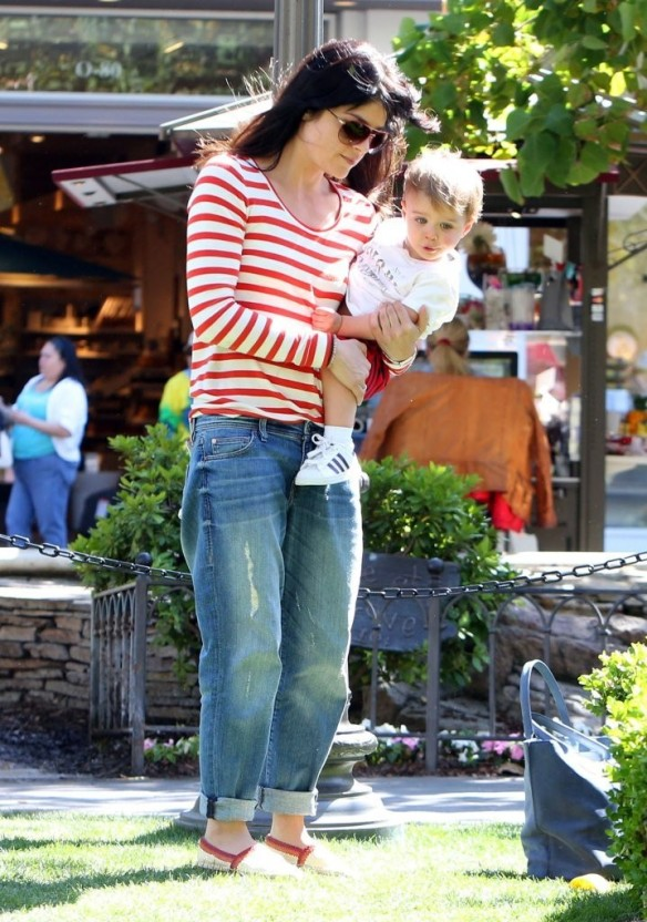 Selma Blair & Son in Stripes 22