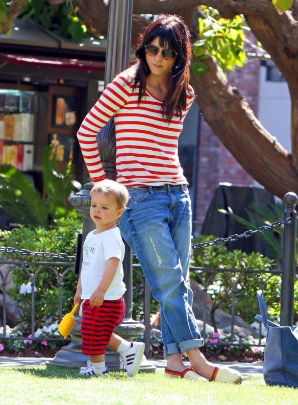 Selma Blair & Son in Stripes 23