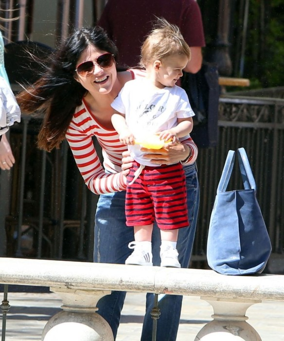 Selma Blair & Son in Stripes 26