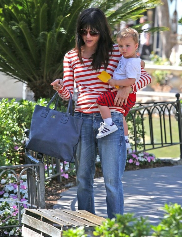 Selma Blair & Son in Stripes 29