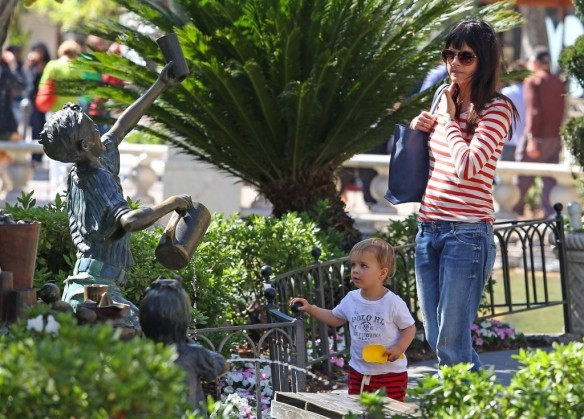 Selma Blair & Son in Stripes 30