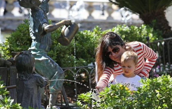 Selma Blair & Son in Stripes 31