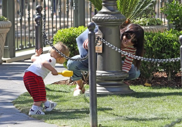 Selma Blair & Son in Stripes 34