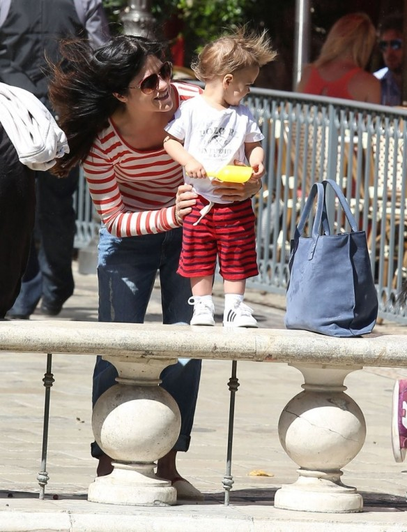 Selma Blair & Son in Stripes 37