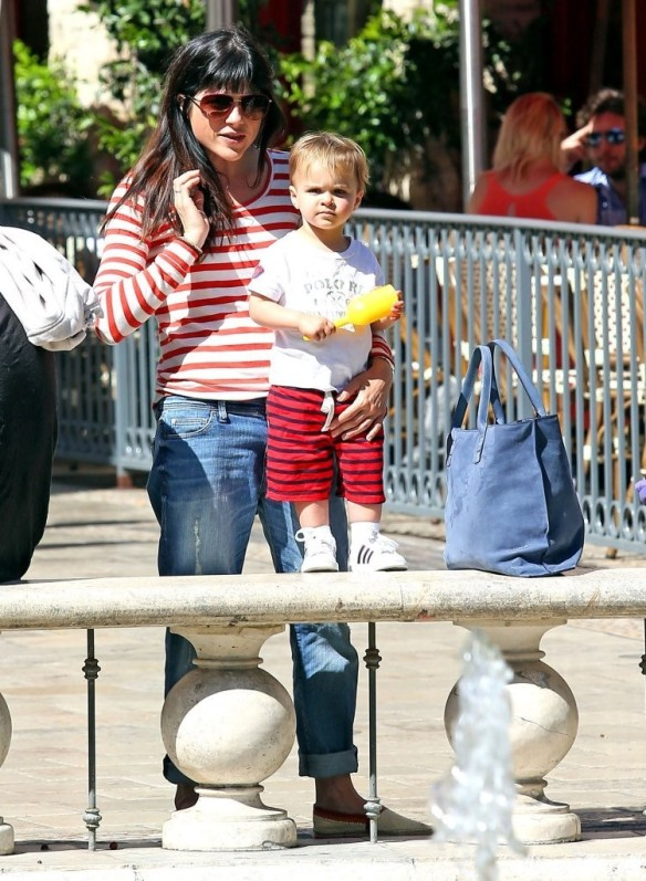 Selma Blair & Son in Stripes 39