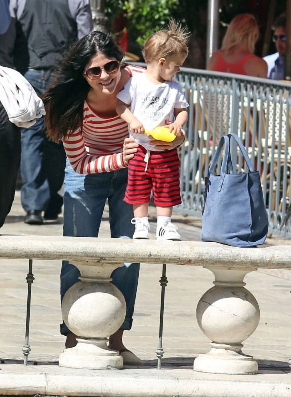 Selma Blair & Son in Stripes 41
