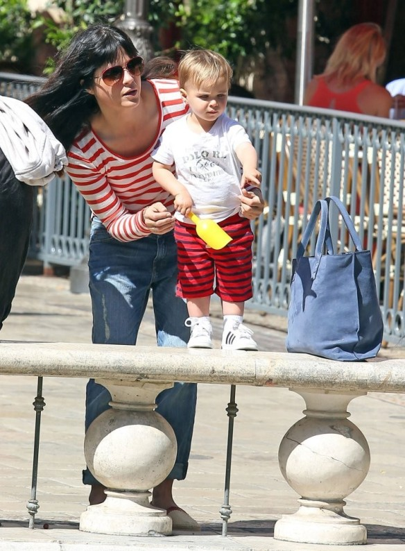 Selma Blair & Son in Stripes 42