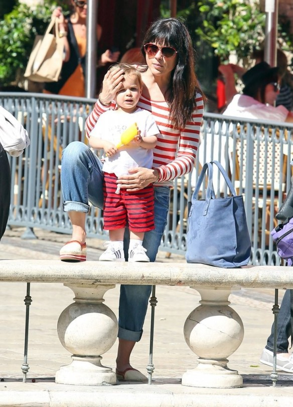 Selma Blair & Son in Stripes 43