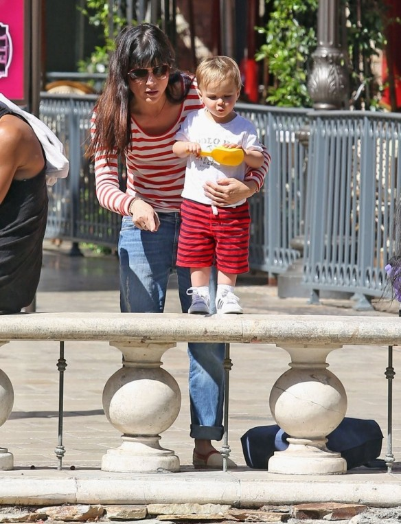 Selma Blair & Son in Stripes 47