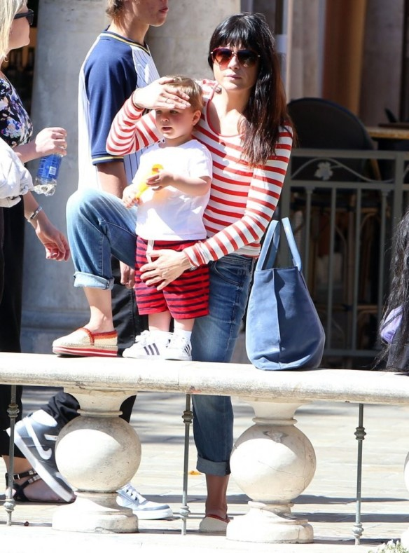 Selma Blair & Son in Stripes 5