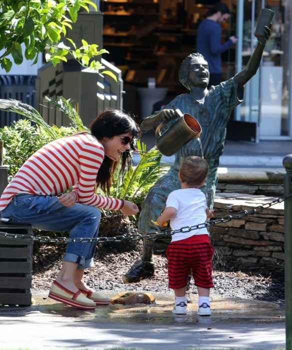Selma Blair & Son in Stripes 6