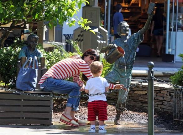 Selma Blair & Son in Stripes 7