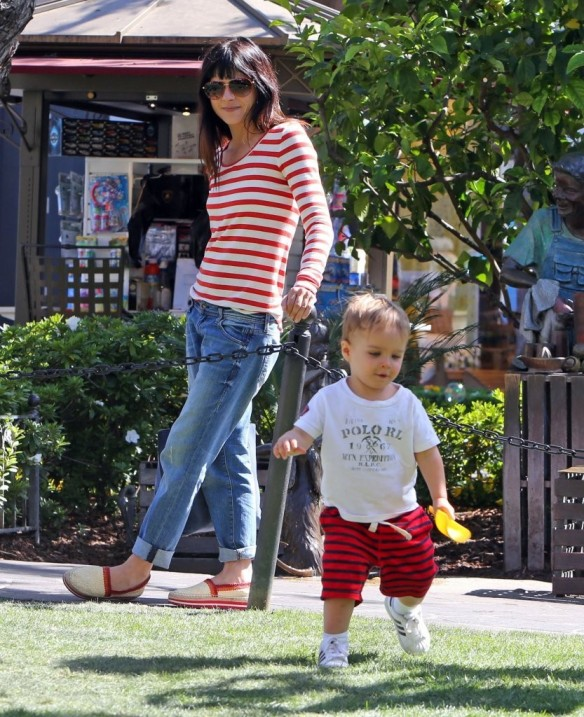 Selma Blair & Son in Stripes 9