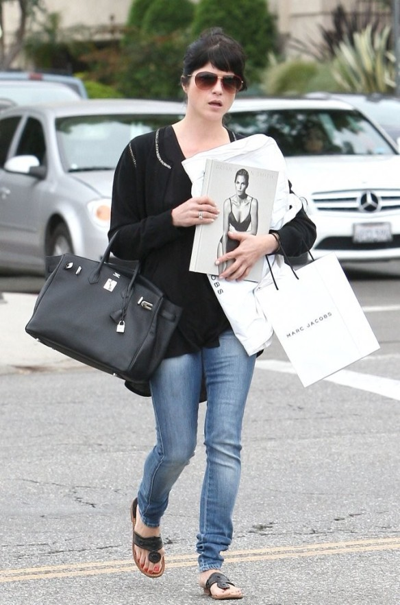 Selma Blair With A Hot Copy of Brian Bowen Smith's New Book PROJECTS 2
