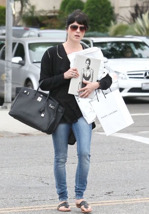Selma Blair With A Hot Copy of Brian Bowen Smith's New Book PROJECTS