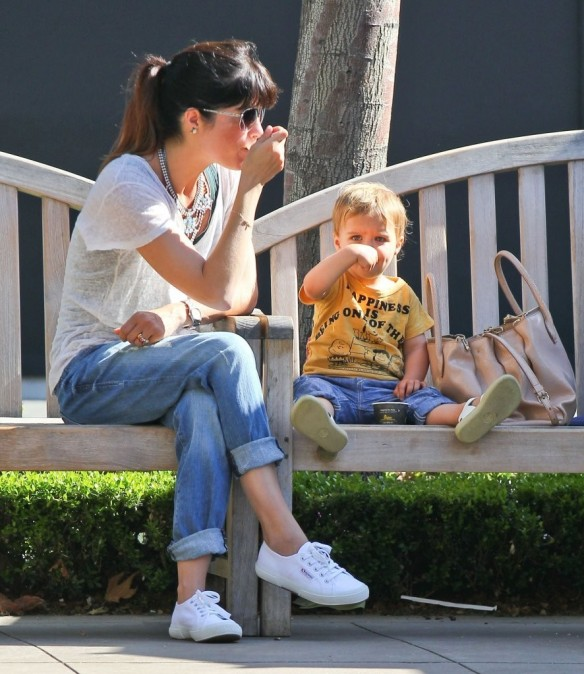 Selma Blair & Arthur Saint Go For Ice Cream 4