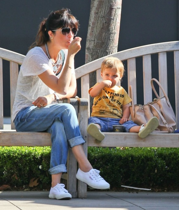 Selma Blair & Arthur Saint Go For Ice Cream 5