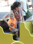 Selma Blair & Arthur Saint Train Ride 1