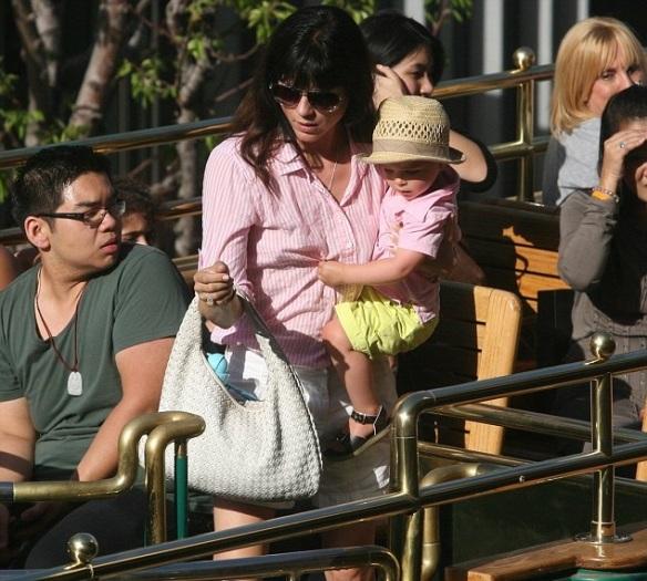 Selma Blair & Arthur Saint Trolley Ride 6