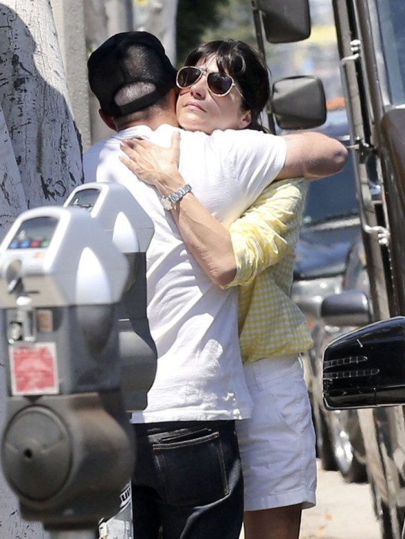 Selma Blair & Jason Bleick Hug It Out 2