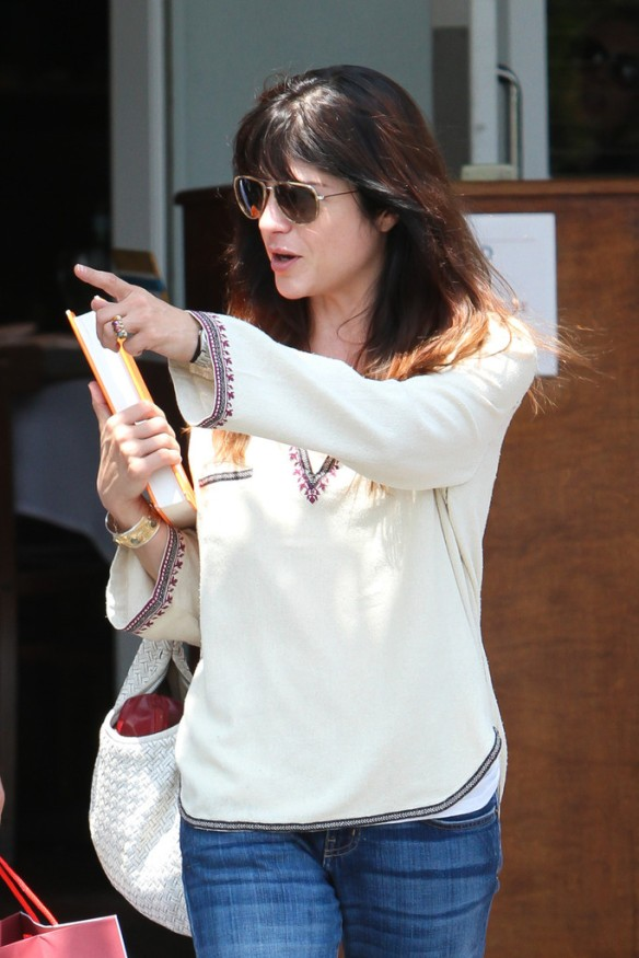 Selma Blair Leaving Freg Segal 13