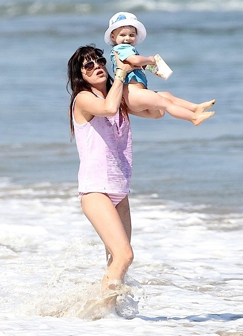 Selma Blair Spends Mother's Day In The Surf With Arthur 6