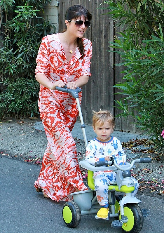 Selma Blair & Son Arthur Share A Morning Walk 1