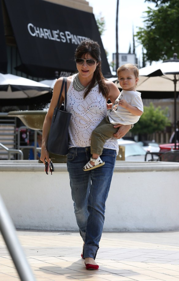 Selma Blair Spends 41st With Baby Arthur 1