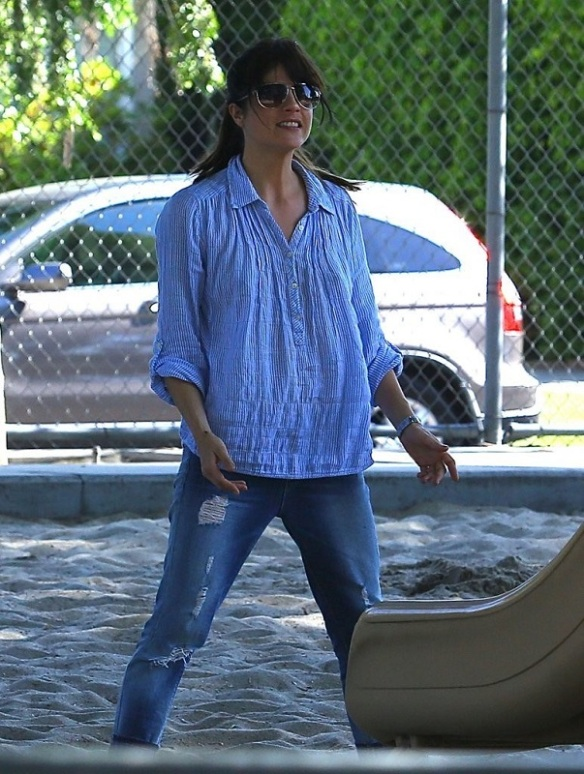 Selma Blair Spends Her Day With Baby Arthur 10