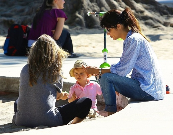 Selma Blair Spends Her Day With Baby Arthur 12