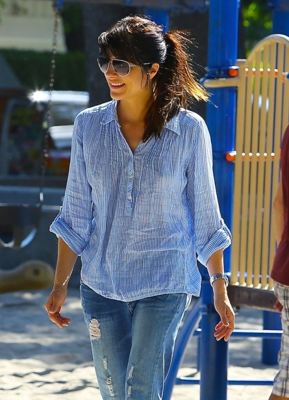 Selma Blair Spends Her Day With Baby Arthur 13