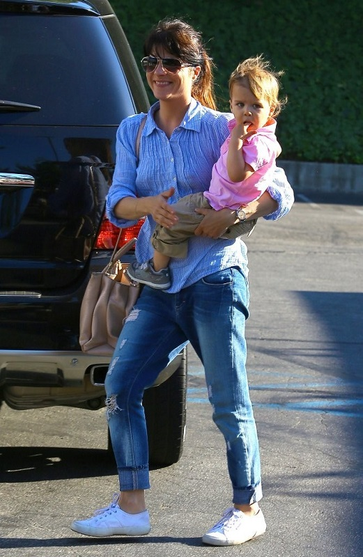 Selma Blair Spends Her Day With Baby Arthur 1