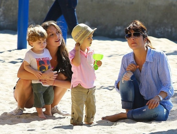 Selma Blair Spends Her Day With Baby Arthur 18