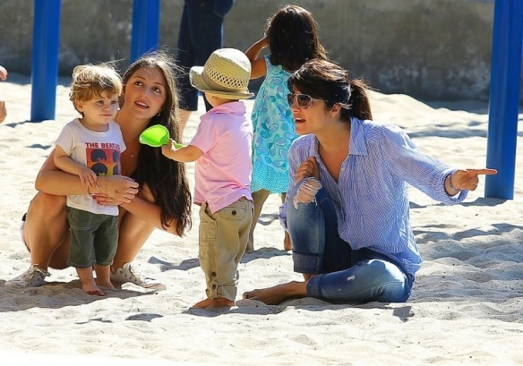 Selma Blair Spends Her Day With Baby Arthur 19