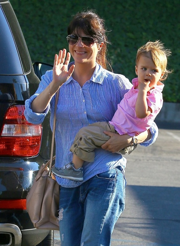 Selma Blair Spends Her Day With Baby Arthur 2