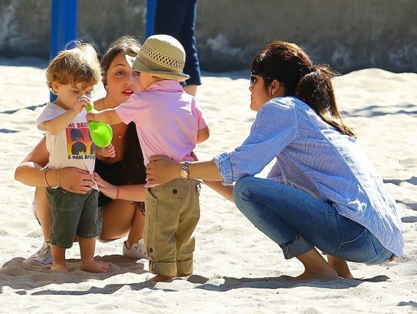 Selma Blair Spends Her Day With Baby Arthur 23