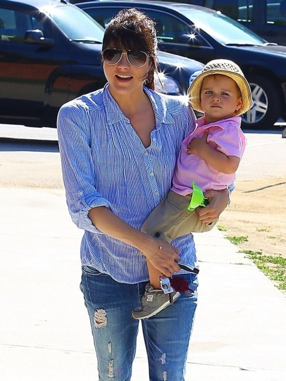 Selma Blair Spends Her Day With Baby Arthur 27
