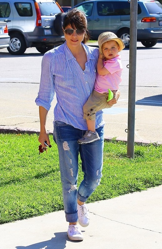 Selma Blair Spends Her Day With Baby Arthur 29