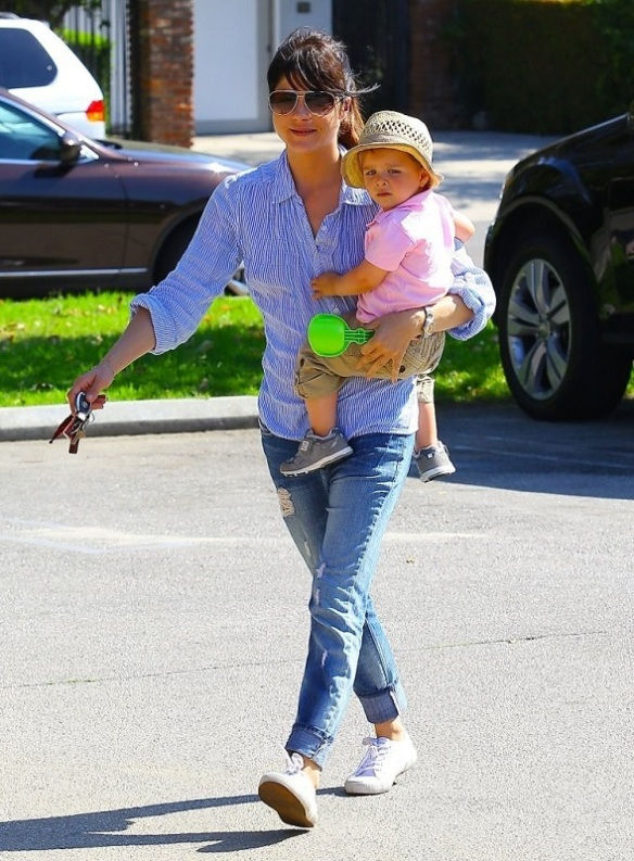 Selma Blair Spends Her Day With Baby Arthur 32