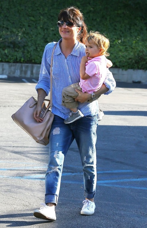 Selma Blair Spends Her Day With Baby Arthur 6