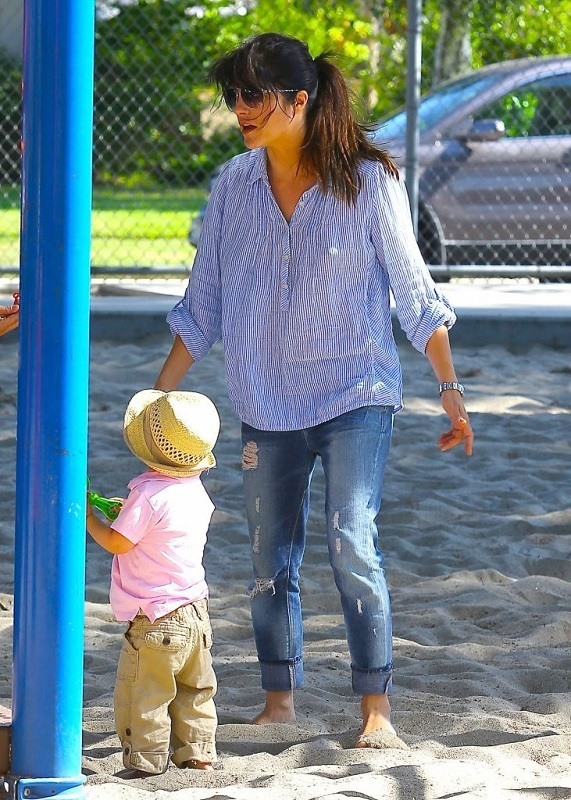 Selma Blair Spends Her Day With Baby Arthur 8