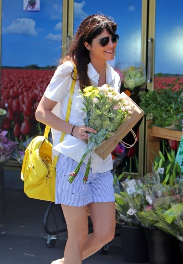 Selma Blair Stocks Up At Bristol Farms 12