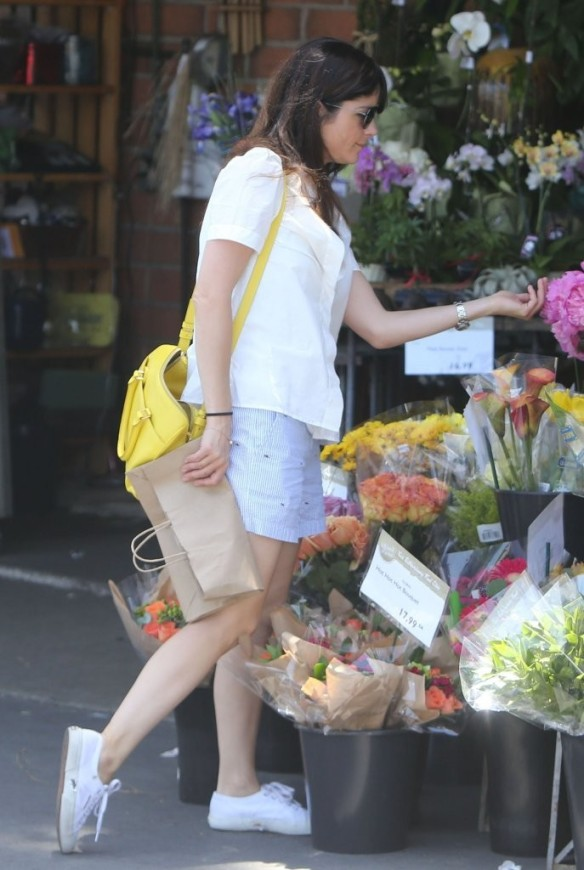 Selma Blair Stocks Up At Bristol Farms 16