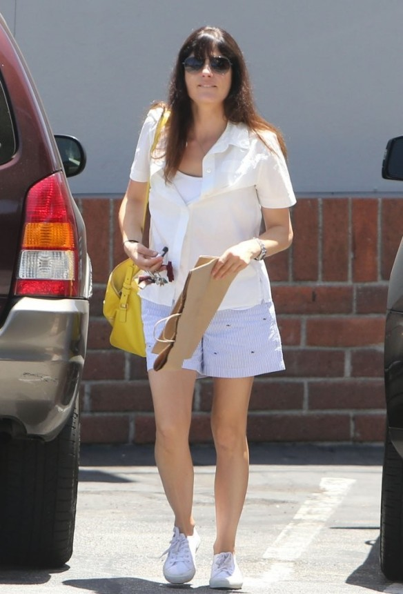 Selma Blair Stocks Up At Bristol Farms 17