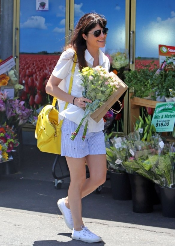 Selma Blair Stocks Up At Bristol Farms 9